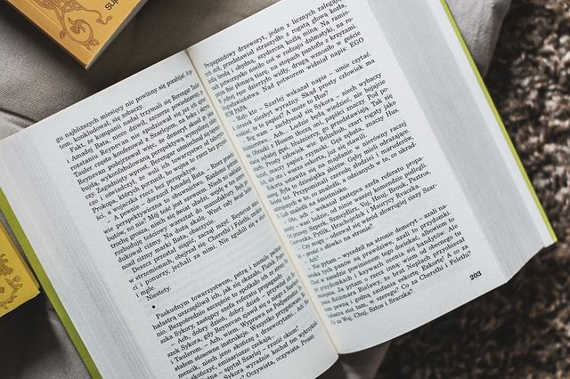 otevřená knížka