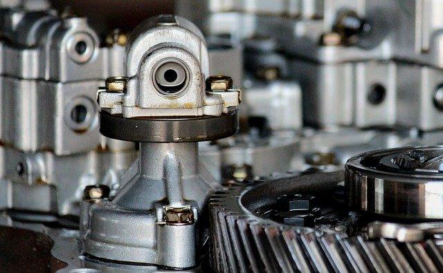 rozebraný motor